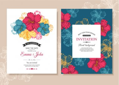 Collection of wedding invitation templates