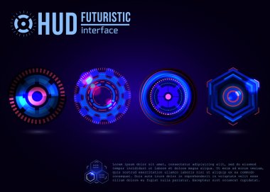 Futuristic HUD interface elements