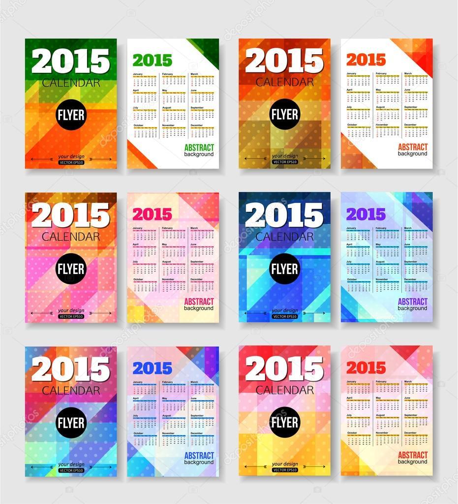 Calendar Templates Graphic Design : Calendar templates brochure u stock vector vectorgift