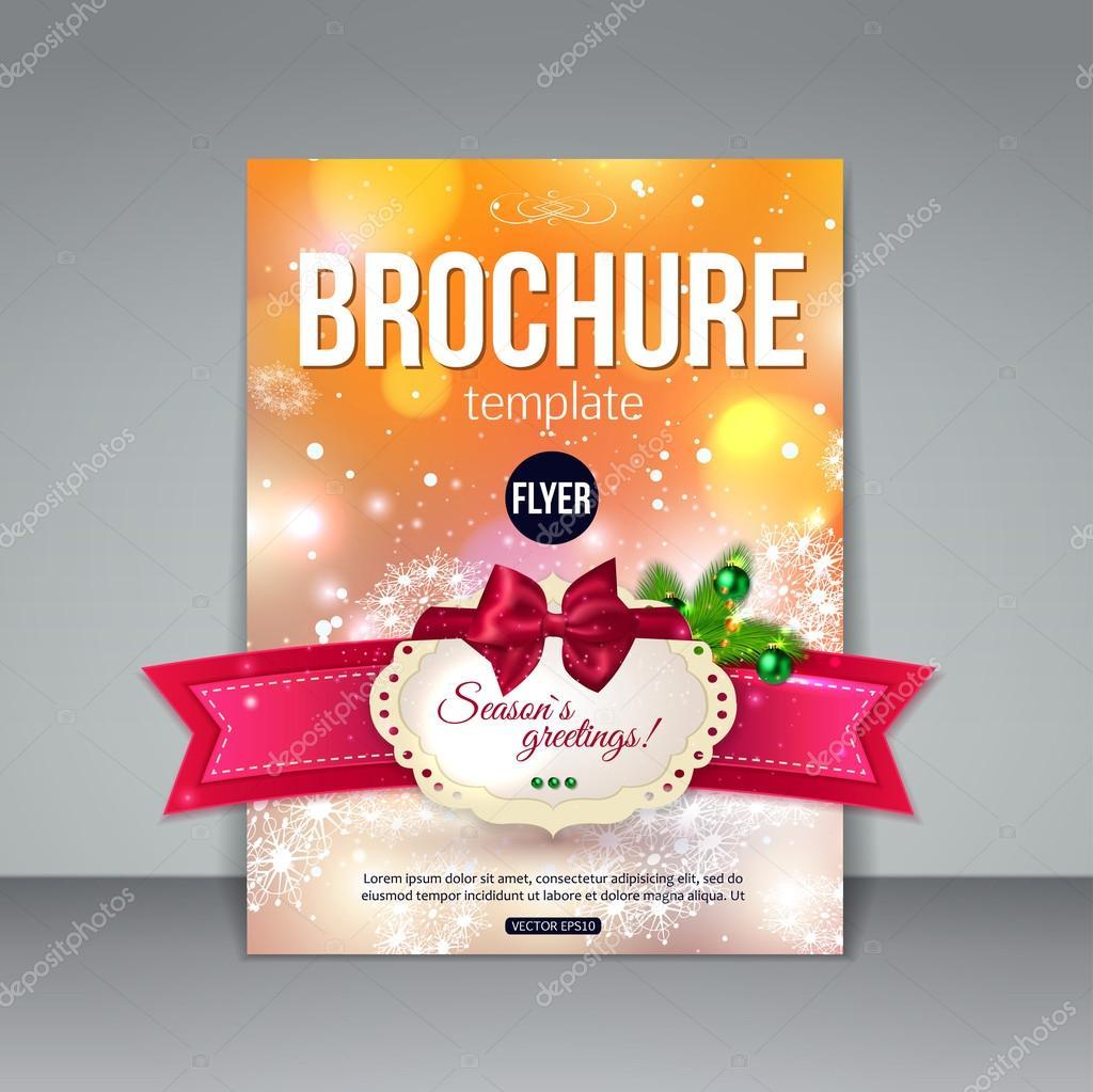 Christmas brochure template — Stock Vector © VectorGift #57532343