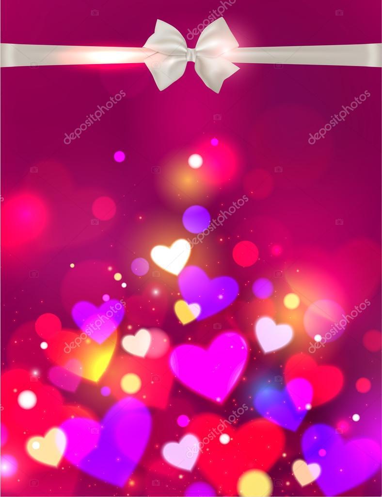 Happy Valentine's day glow background