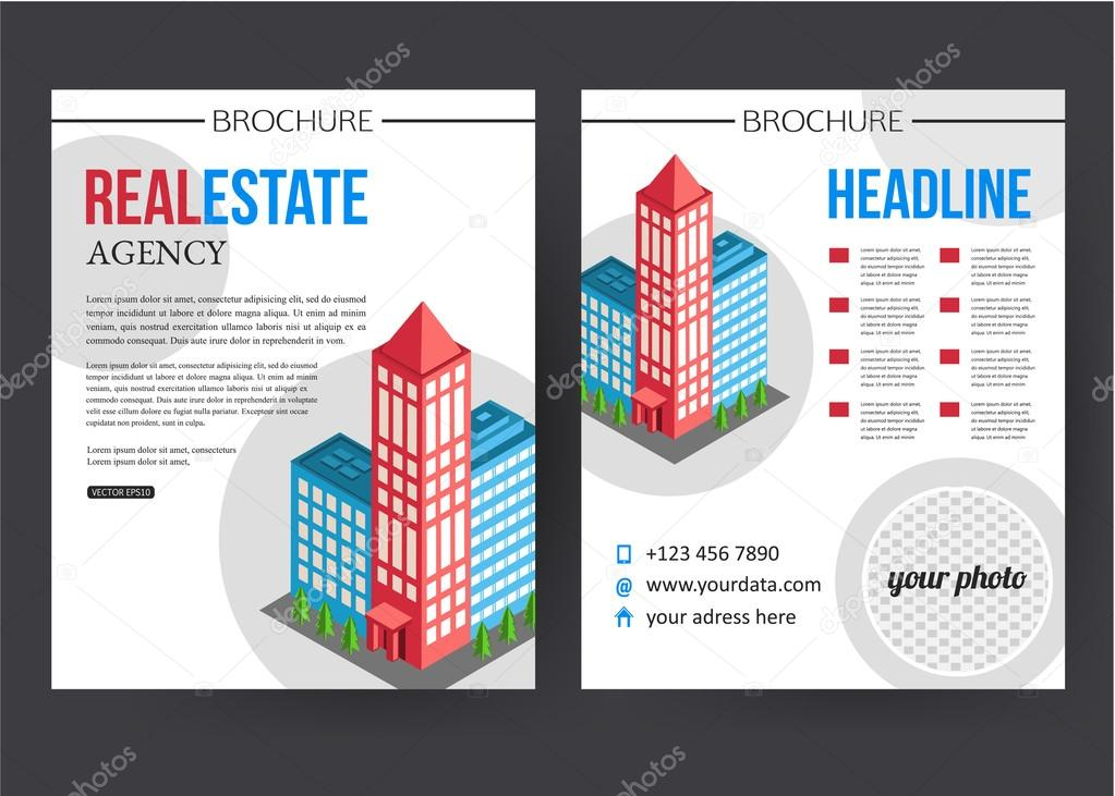 city real estate brochure template stock vector vectorgift