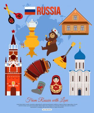 Russia travel background