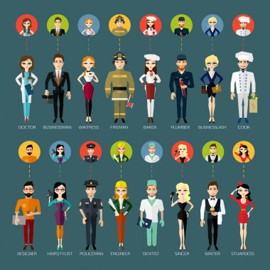 Profession people and avatars