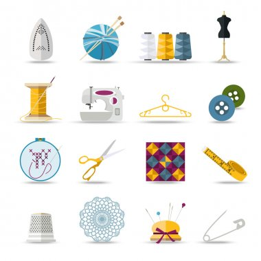 Sewing icons set.