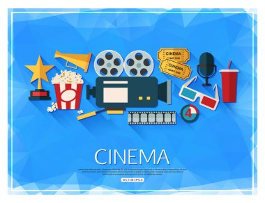 Movie and film background