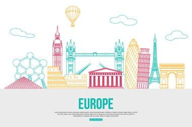 Europe travel background