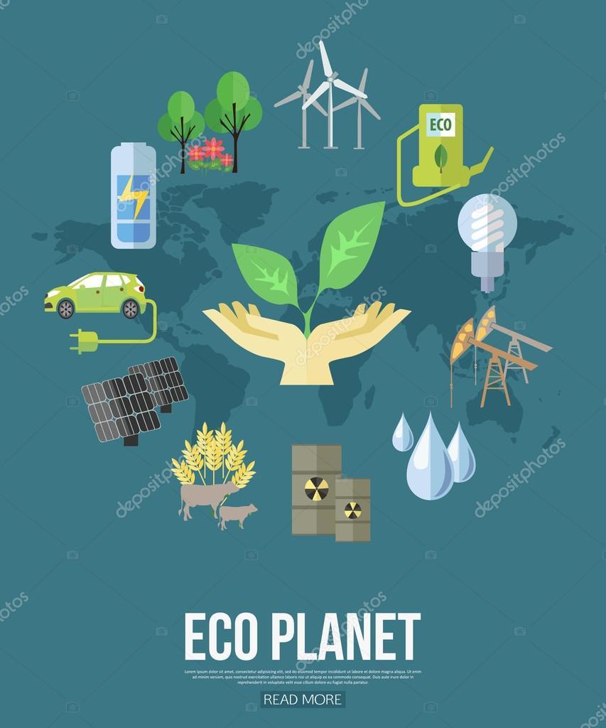 Eco planet design concept