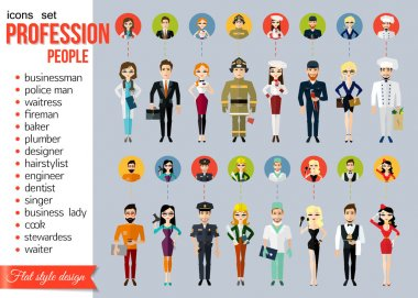 Profession people and avatars collection