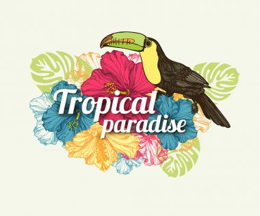 Tropical summer typographical background
