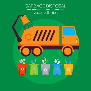 Concept of garbage disposal.