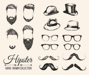 Hipster fashion vintage elements