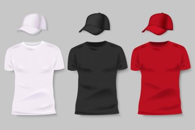 Collection of men  t-shirts and baseball caps