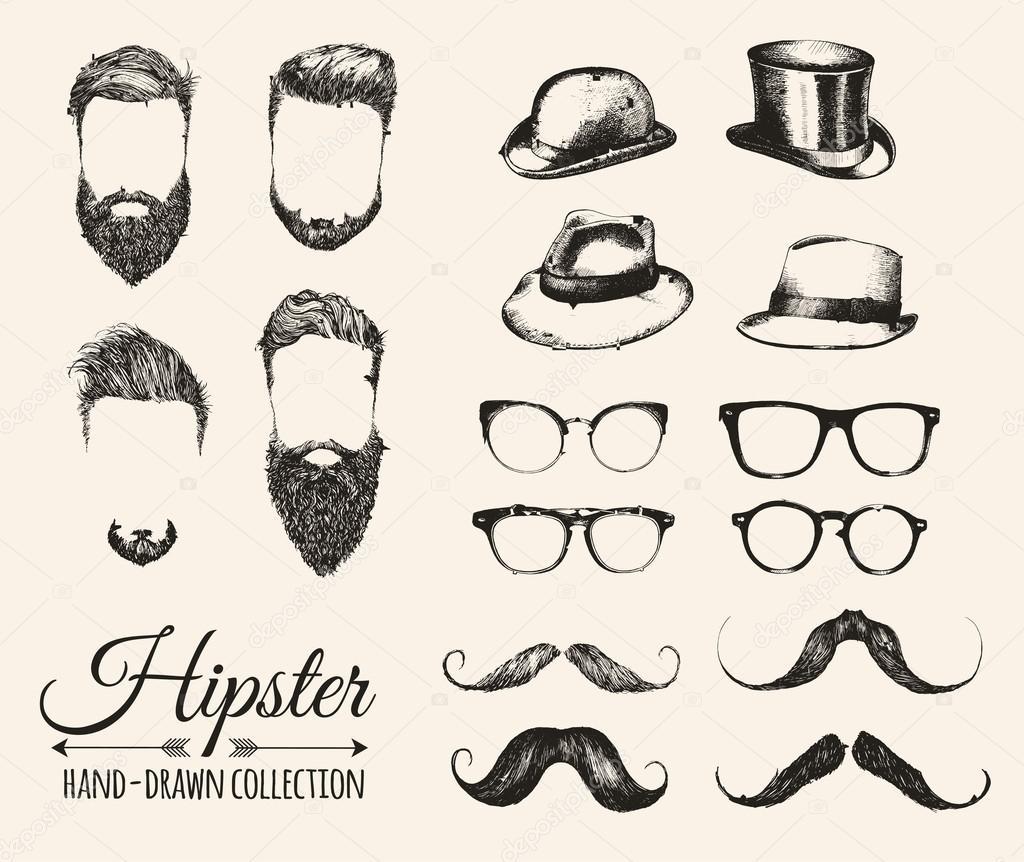 Elementi dell annata di moda hipster — Vettoriali Stock © VectorGift ... 9e24aee5262f