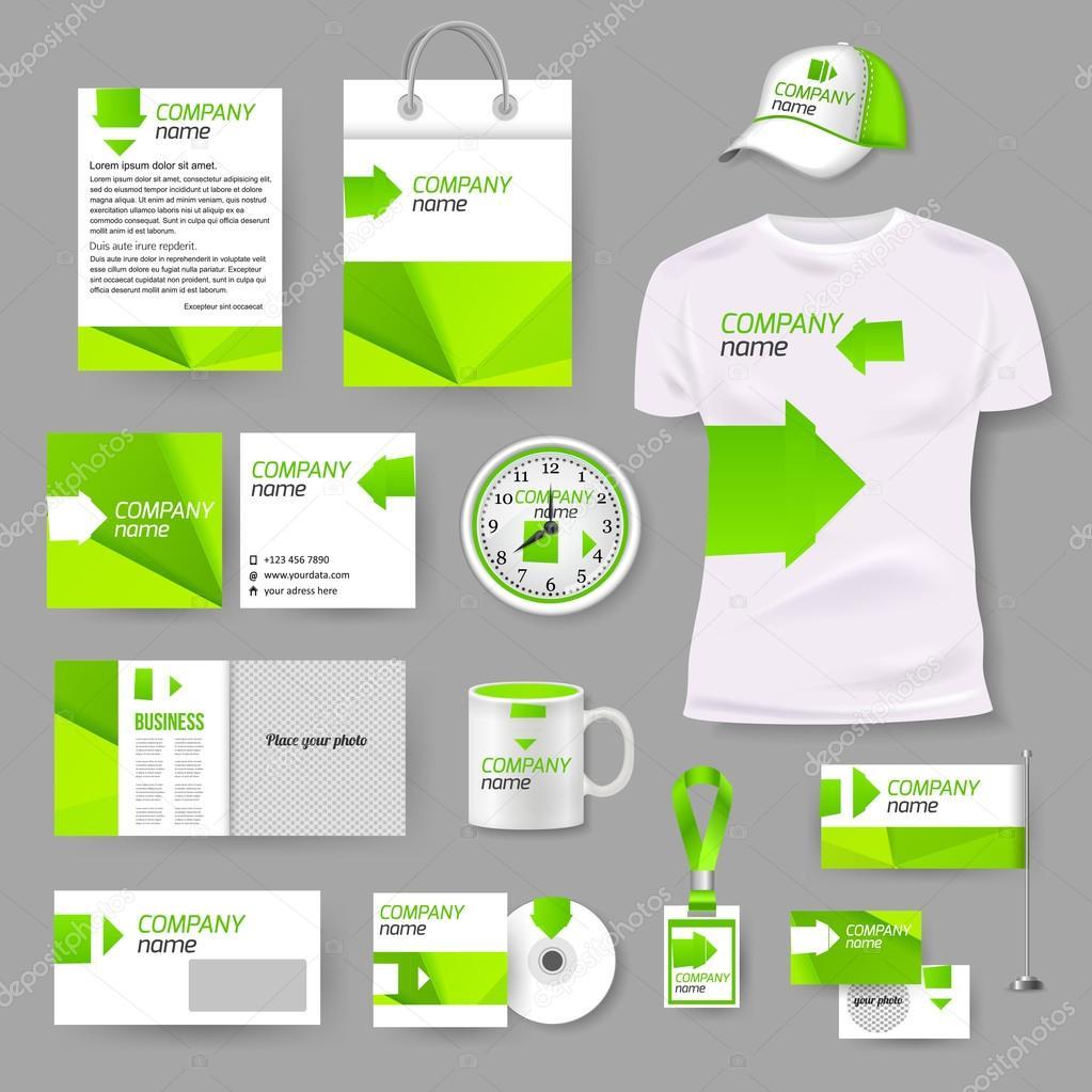 plantilla de diseño fotorealista de negocios — Vector de stock ...