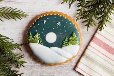 Art gingerbread cookie