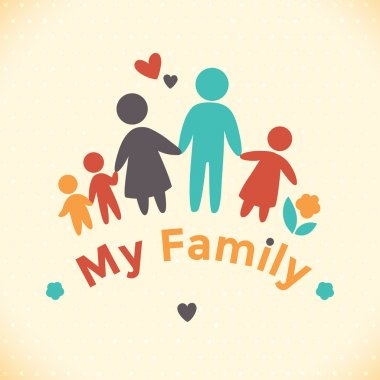 Happy family icon