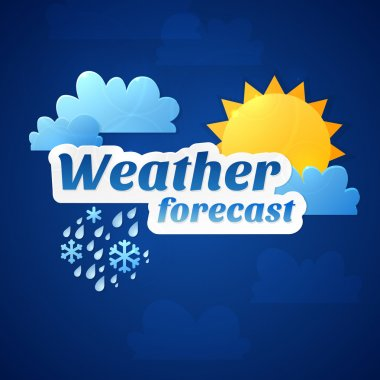 Weather forecast for TV or web