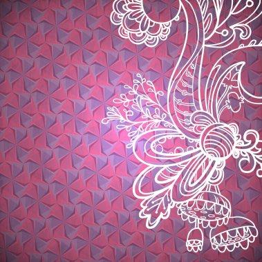Hexagon geometric floral background