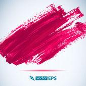 Fotografia Vector inchiostro rosa acrilico punto. Tratto di pennello bagnato su struttura di carta. Tratti di pennello asciutto. Composizione astratta per elementi di design