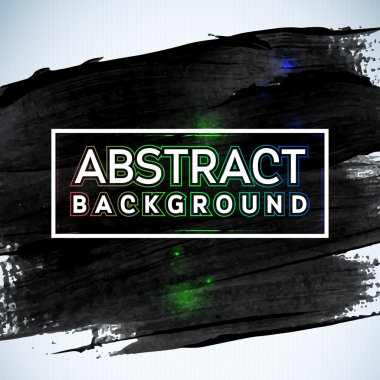 Abstract painted ink stroke background