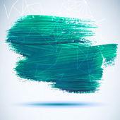 Vektor akril, kék színű tintával helyszínen. Nedves ecsetvonás a papír az anyagminőség