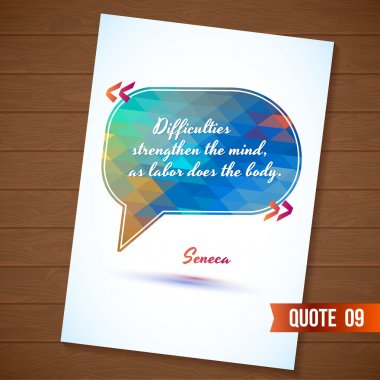 Wisdom quote card on wood background
