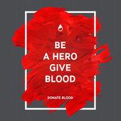 Darovat krev motivace informační plakát