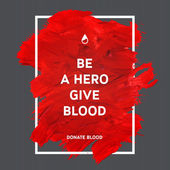 Donate blood motivation information poster.