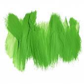 Fotografie grüne Pinselstriche aus Acryl