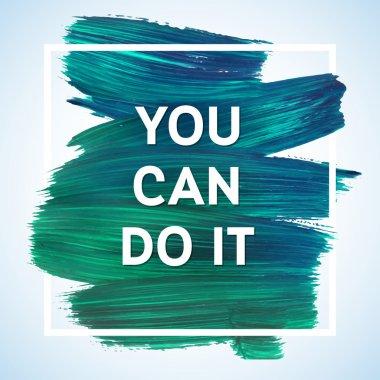 Motivation square poster