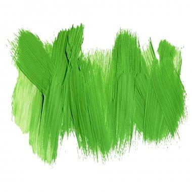 Green acrylic brush strokes
