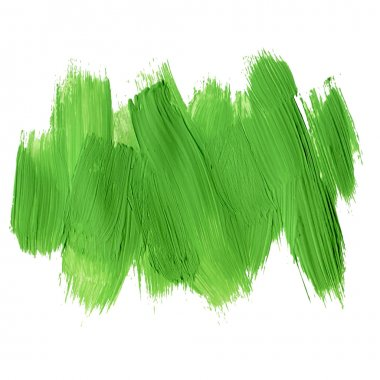 Green acrylic brush strokes