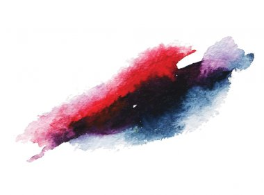 Abstract watercolor stain