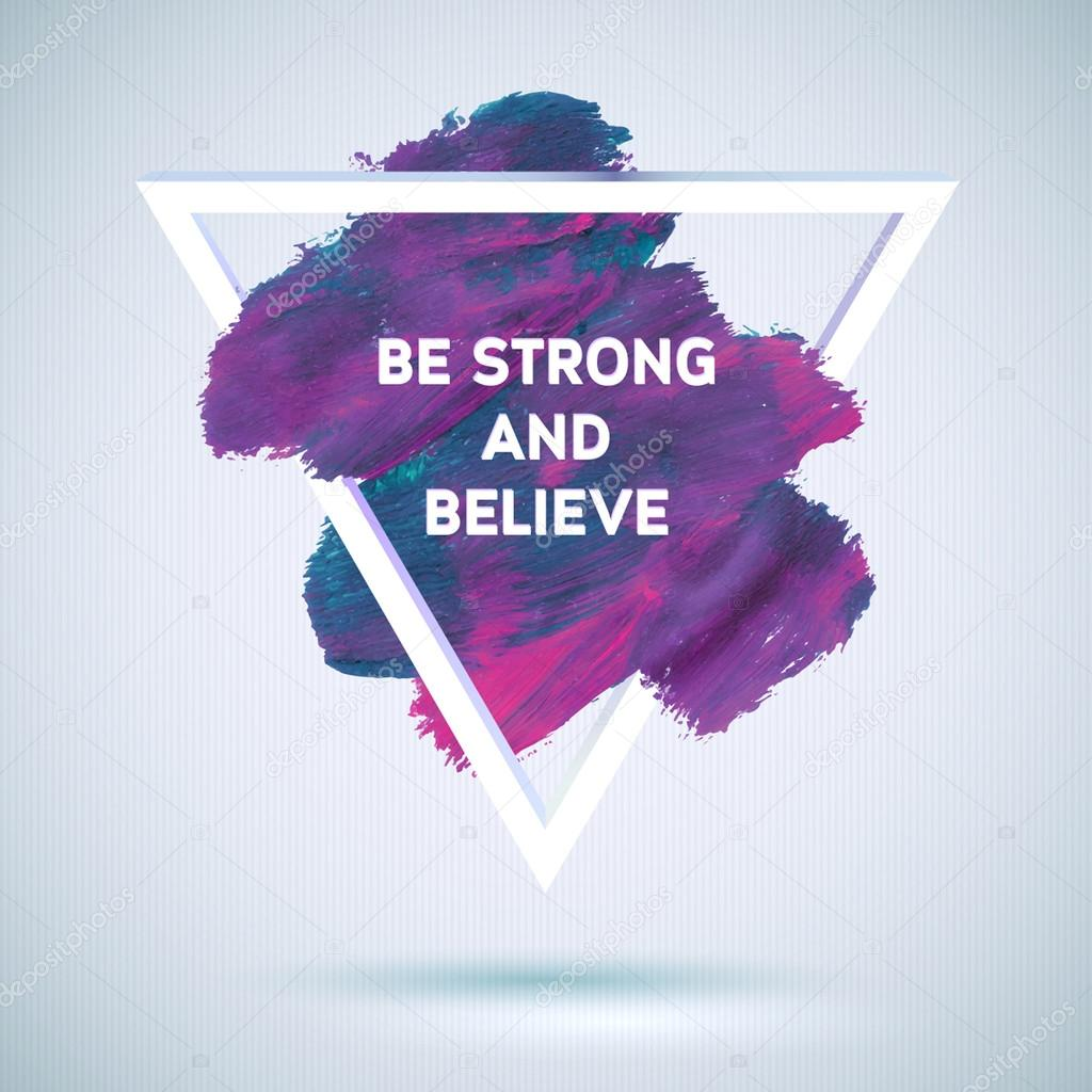 Motivation triangle poster