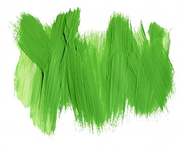Brush stroke. Acrylic paint stain.  stroke of the paint brush isolated on white clip art vector