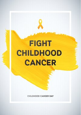 Childhood Cancer Awareness Poster.