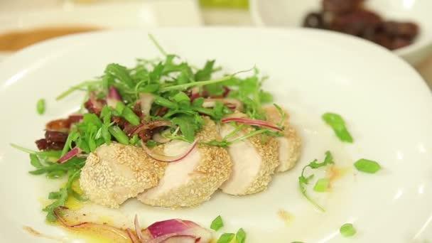 Roasted chicken fillet