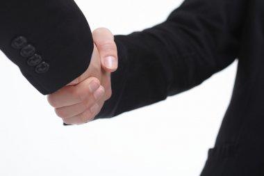 Businessmen successful handshake