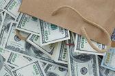pénzt a papír porzsák