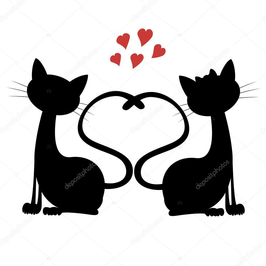 Vector Gatos Gatos Lindos Están Aquí Vector De Stock