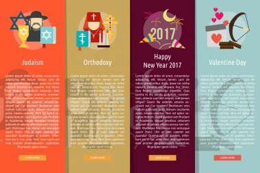 Religion and Celebrations Vertical Banner Concept