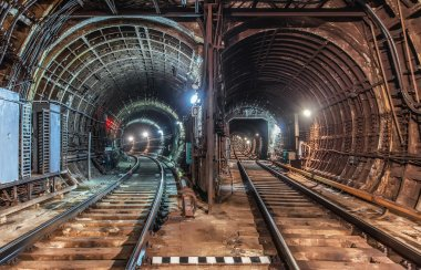 Two subway tunnel