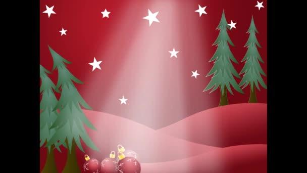 Előestéjén a karácsony és boldog új évet, a csillagok és díszek karácsonyi háttér.