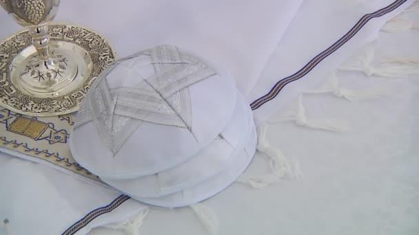 Bár Mitzhvah zsidó vallási ima kendőt - tállítot, zsidó vallási szimbólum szimbólum
