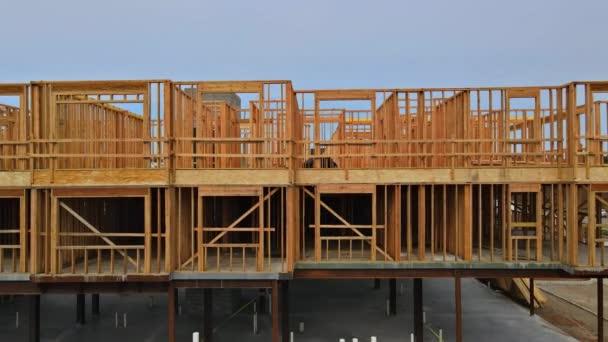 Nosníky stěny rámu domů ve výstavbě obytný dům Američan