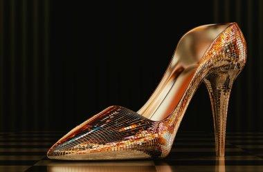 Woman glass shoe