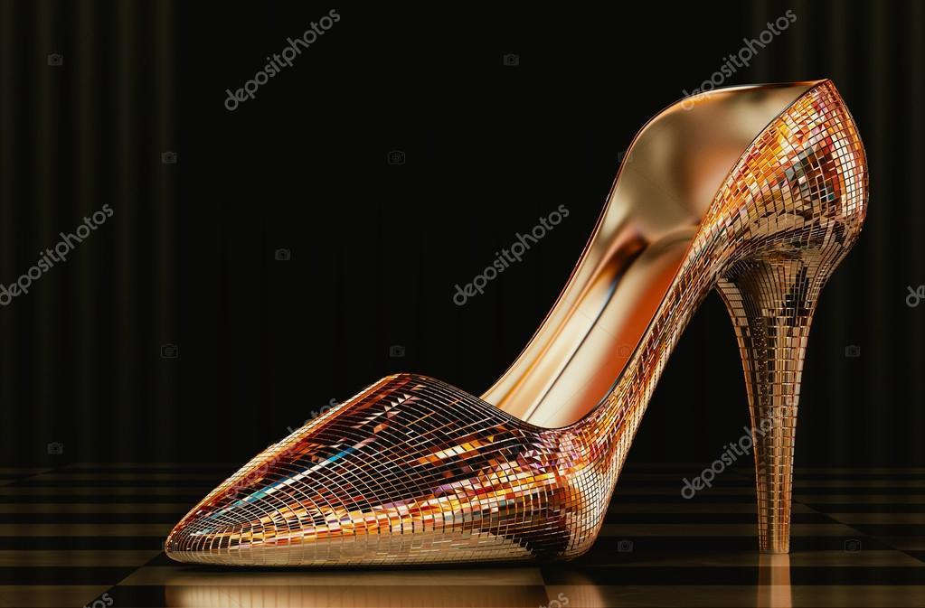 zapato de vidrio la mujer — Foto de stock © tongdang  90577178 fdf120cd9743