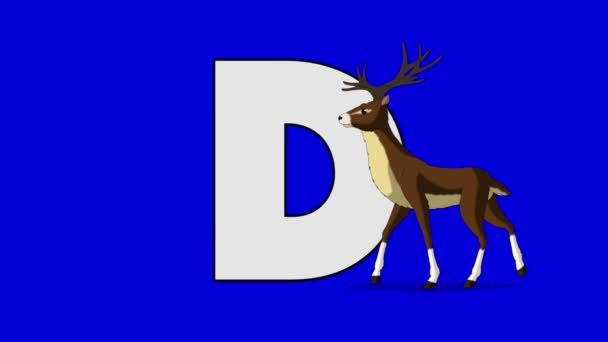 Letter D and Deer  (foreground)