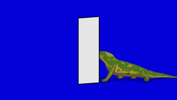 Levél és a leguán (háttér)